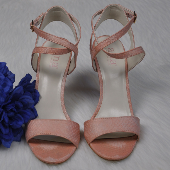 501bd8b37b a.n.a Shoes | Ana Hollie Blush Strappy High Heel Sandals 75m | Poshmark